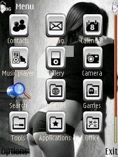 тема Красотка для Nokia