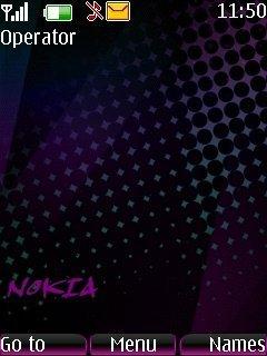 тема черная для Nokia