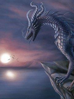 Картинка Blue Dragon 240x320 (Голубой Дракон)