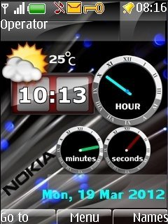 Тема Super Nokia Clocks для Нокиа