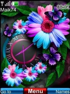 Тема Flowers (цветы) для телефона