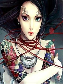 Картинка Tattoo woman 240x320