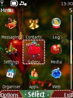 Тема Christmas для nokia скачать