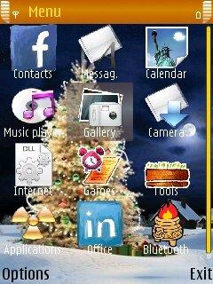 Тема Merry Christmas для Нокиа