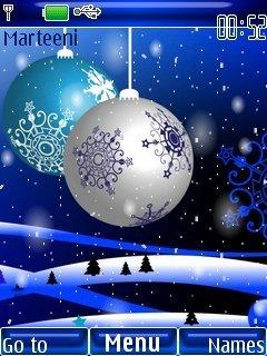 Тема Blue Christmas для телефона Нокиа бесплатно