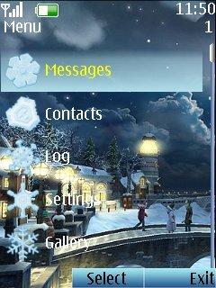 Тема Winter Spell для телефона NOKIA