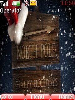 Тема North Pole Happy Holidays для Нокиа