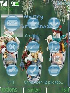 Тема Merry Christmas для телефонов Nokia скачать