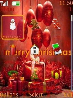Тема Merry Christmas (Счастливого рождества) для Nokia