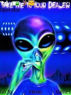 Тема синий инопланетянин (Alien Blue) для Нокиа