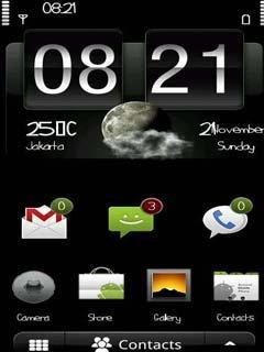 Тема андроид меню (Android menu) для Нокиа