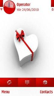 Тема Valentine's day gift для Symbian 9.4 Нокиа