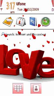 Тема Love Is для телефона на Symbian 9.4