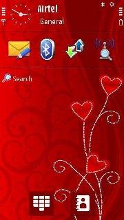 Тема Valentine Day для Symbian 9.4 Нокиа