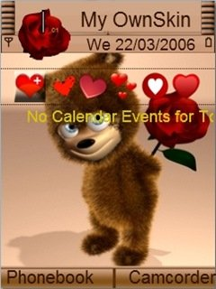 Тема Valentine Tady для Symbian 9.1-9.3 Нокиа