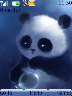 бесплатная Тема маленькая панда (Little Panda) на телефон
