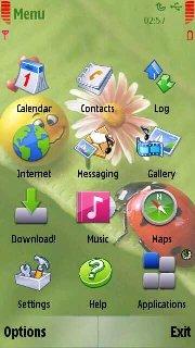 Тема любовь (Love) для Symbian 9.4 Nokia