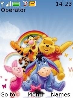 Тема друзья Пуха (Pooh Friends) на телефон Нокиа