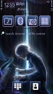 Тема пианист (Piano player) для смартфона на Symbian 9.4