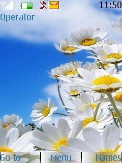 Тема милые цветочки 3d на телефон