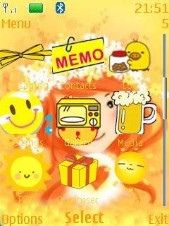Тема Желтые цветы (yellow flowers) для телефона Nokia загрузить