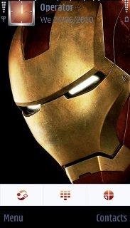 Тема железный человек (Iron man) для смартфона на Symbian 9.4
