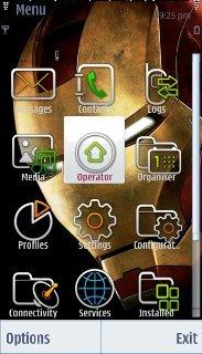 Тема железный человек (Iron man) для смартфона на Symbian 9.4 скачать