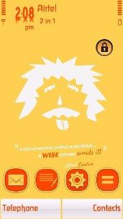 Тема Альберт Эйнштейн (Albert Einstein) для Symbian 9.4