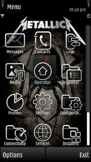 Бесплатная Тема Metallica для Symbian 9.4 Nokia