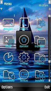 Тема Парусник (Sailing boat) для Nokia бесплатно