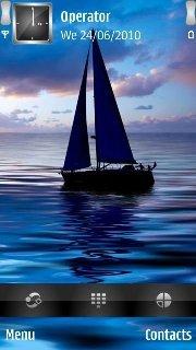 Тема Парусник (Sailing boat) для Nokia скачать