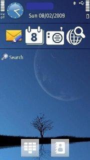 Тема Луна (Moon) для телефона Нокиа на Symbian 9.4