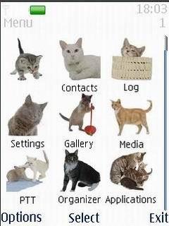 Тема коты для телефонов Nokia бесплатно
