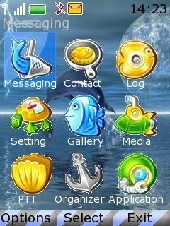 Тема дельфины для телефона Nokia скачать