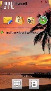 Тема Sunset для смартфонов Nokia на Symbian 9.4