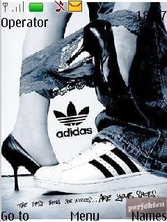 """Тема """"Все любят кроссовки adidas"""" для телефона Нокиа"""
