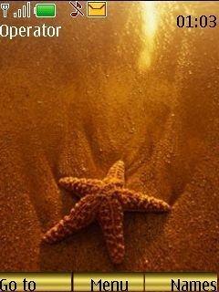Тема морская звезда (Starfish) на телефон Нокиа