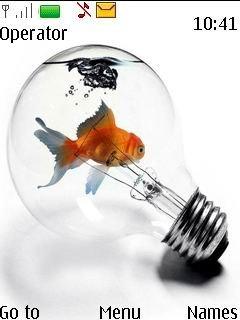 Тема анимированная рыбка для Нокиа скачать