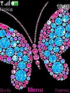 Тема анимированная бабочка (Animated Butterfly)