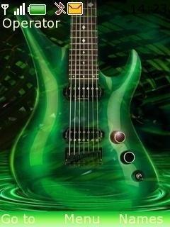 Тема зеленая гитара для Нокиа скачать