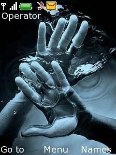 Тема руки в воде (hands in water)
