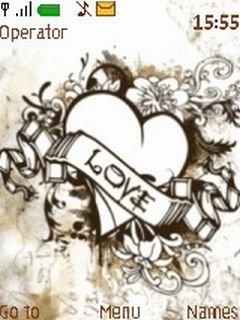 Тема любовная абстракция (Love Abstract) для телефона