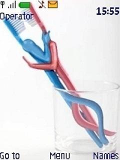 Тема Влюбленные зубные щетки (Love toothbrushes)