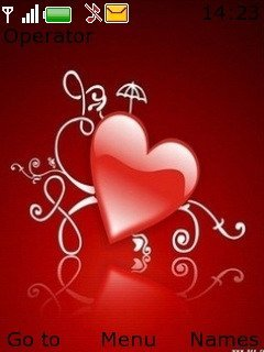 Тема красное сердце (red heart)