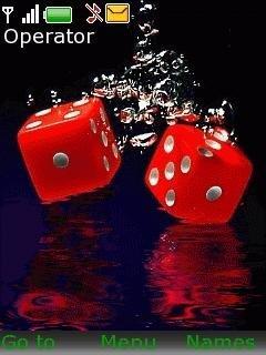 Тема красные кости в воде (Red Dice In Water)