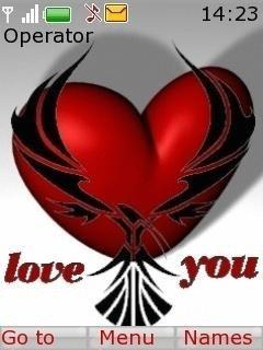 Тема люблю тебя (love you) для Нокиа