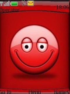 Тема красный смайлик (Red Smiley) для Нокиа