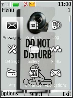 Тема Не беспокоить (Do Not Disturb) для Nokia