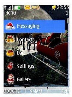 Тема маленький Санта Клаус (little Santa Claus) для Nokia