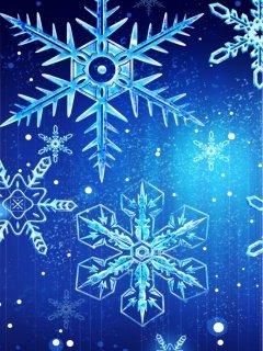 Картинка белые снежинки (white snowflakes) 240x320